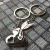 Kľúčenky pre dvoch, srdce a šíp, nápis LOVE YOU, zirkón03