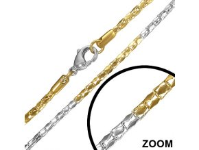 Retiazka na krk z chirurgickej ocele, valčeky - 2/450 mm