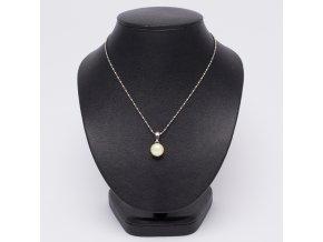 Náhrdelník s príveskom, maslová perla, bižutéria