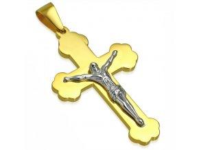Pánsky prívesok na retiazku, kríž s Ježišom, chirurgická oceľ (1)