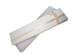 Krémová krabička na náramok, mašľa a stužka