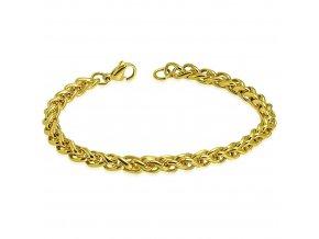 """Náramok z chirurgickej ocele, zlatá farba, vzor """"Spiga"""" - 6/210 mm"""